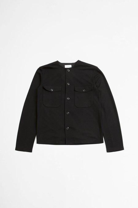 Lemaire Felted Overshirt - Black