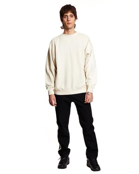 Ambush Quilted Mix Sweatshirt - white