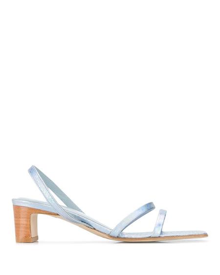 By FAR Wide Heel Sandals - Light Blue