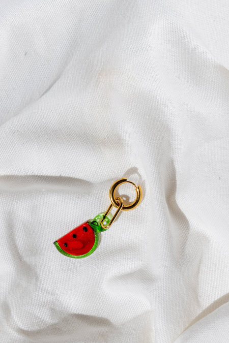 NOTTE Cocomero Watermelon Earrings - Glass / Gold Plated