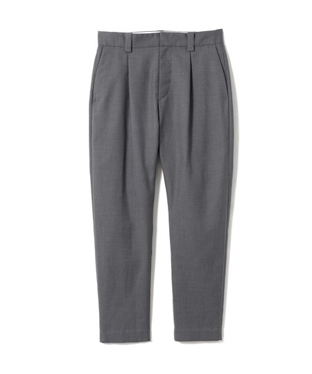 Sandinista MFG Easy Fit Tapered Wool Tuck Pants - Charcoal Gray