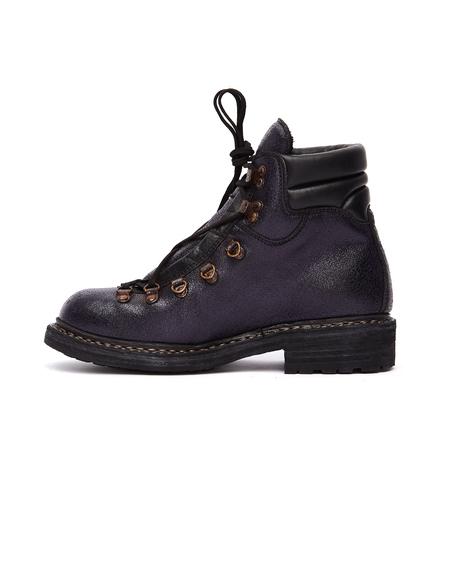 Guidi Purple Grained Leather Hiking Boots - Purple