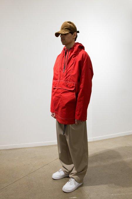 Camiel Fortgens Waterproof Cotton Half Zip Anorak - Red