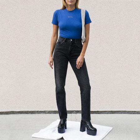 KkCo Short Sleeve Bodysuit - Cobalt