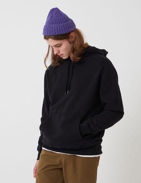 Bhode Oversized Pocket Hoodie - Black