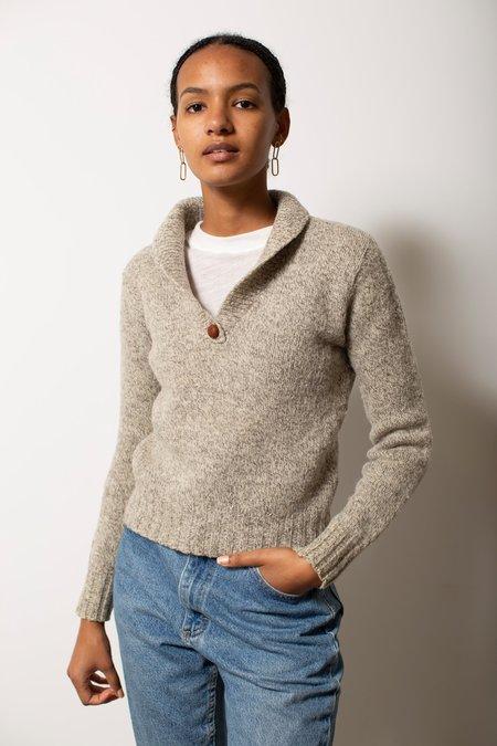 Vintage Heathered Sweater - Light Grey