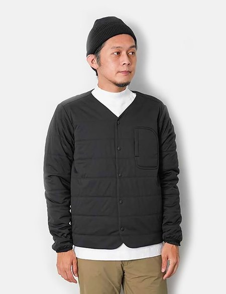 Snow Peak Flexible Insulated Cardigan - Black