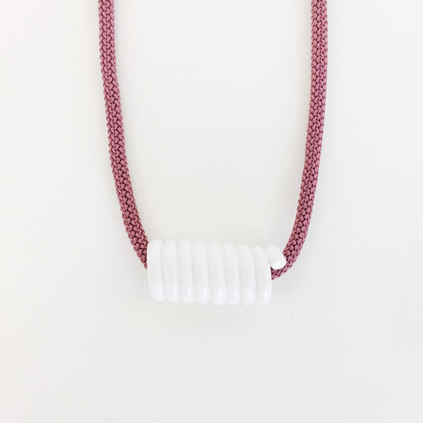 Aubrey Hornor White Coil Necklace