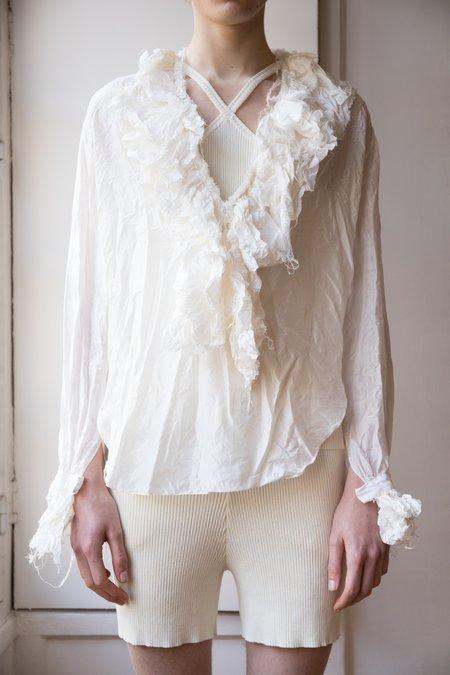 Judy Turner Panna Understudy Ribbed Cotton Short - White