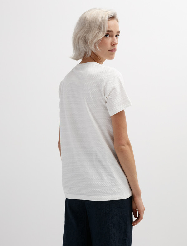 Norse Projects Womens Gro Bubble T-Shirt Ecru