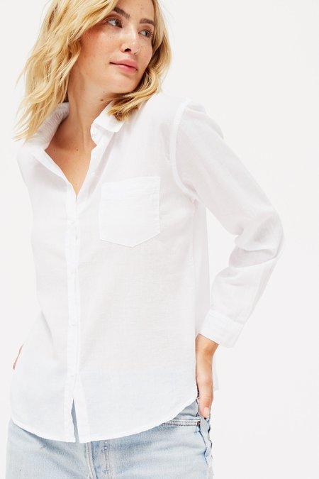 Lacausa Super Fine Parker Button Up - Whitewash