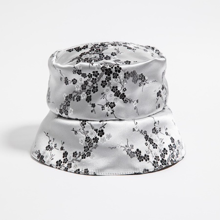 Rightful Owner Satin Bucket Hat - Silver