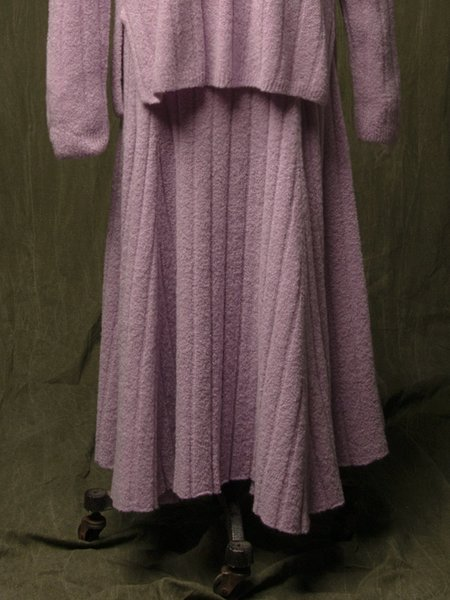 Pure Cashmere NYC Cashmere Boucle Flared Skirt - Lilac