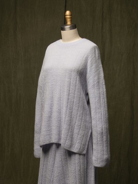Pure Cashmere NYC Cashmere Boucle Sweater - Iceberg
