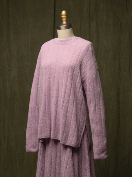 Pure Cashmere NYC Cashmere Boucle Sweater - Lilac