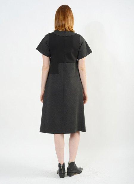 Meg Rain Drop Dress - Black/Grey