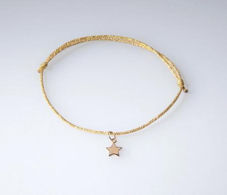 OIYA Star Charm Bracelet - 14kt Gold
