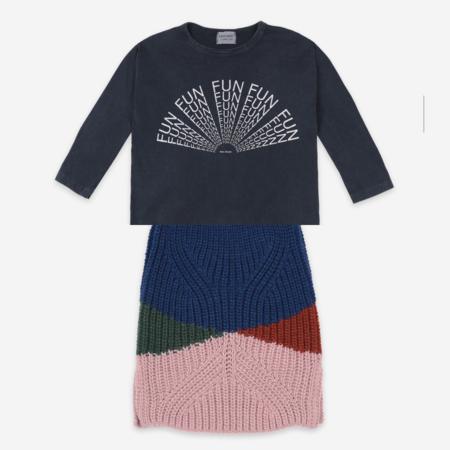 Kids Bobo Choses Color Block Knitted Skirt