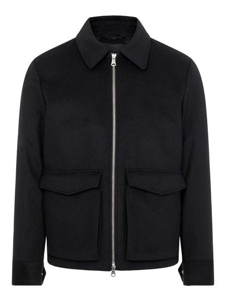 J Lindeberg Ram Wool Shirt Jacket - Black