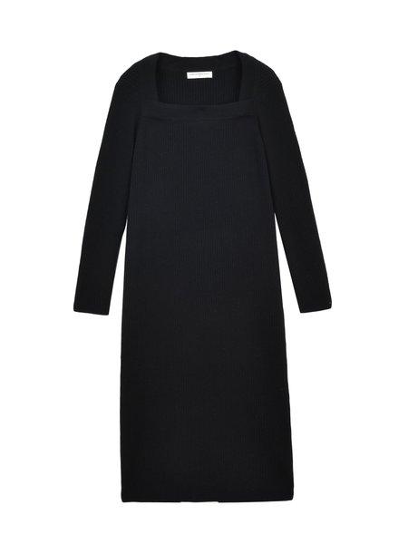 Pure Cashmere NYC Square Neck Dress -  Black