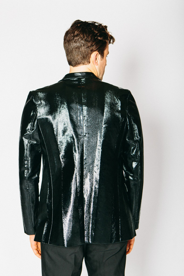 Men's Any Old Iron Lacquered Pony Hair Blazer