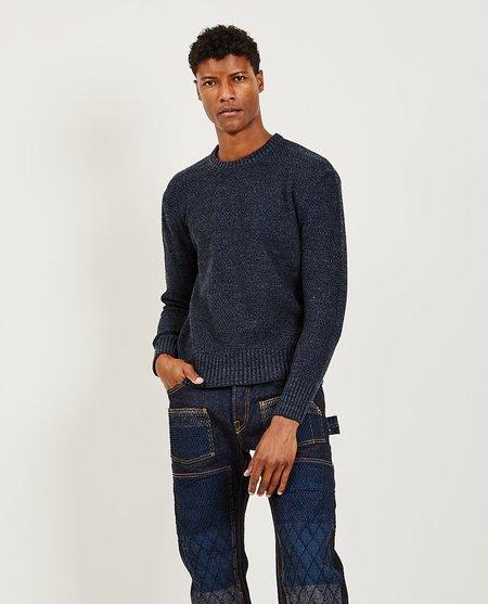 GRAPH ZERO Crewneck Sweater - Indigo