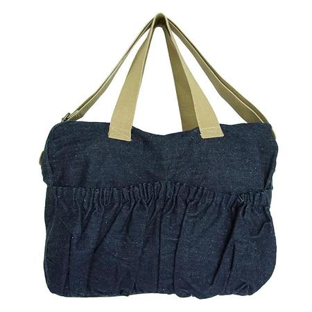 KIDS Pequeno Tocon Denim Diaper Bag - Navy Blue