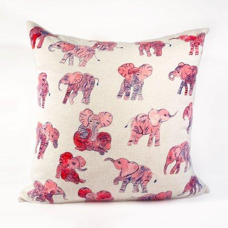 Olivia Wendel Pillow - Pink Elephant