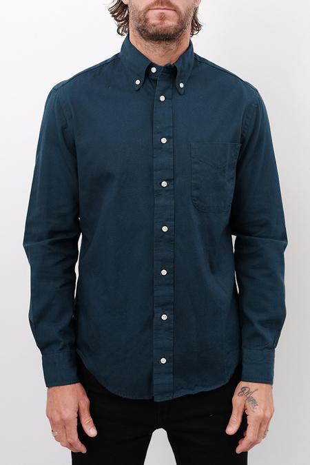 Gitman Bros. Overdye Oxford Shirt - Emerald