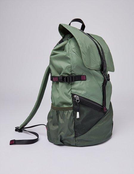 Sandqvist Kasper Lightweight Backpack - Dusty Green/Night Green