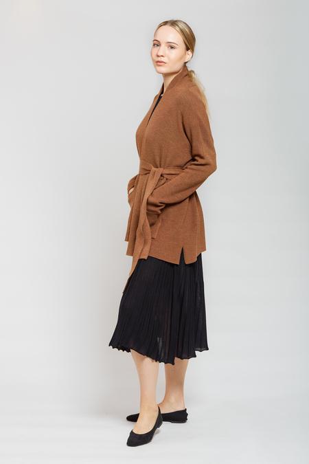 MARIO Belt Cardigan - Brown