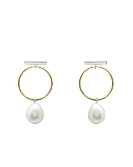 MAKSYM BOBCPB EARRINGS - Silver/gold/pearl