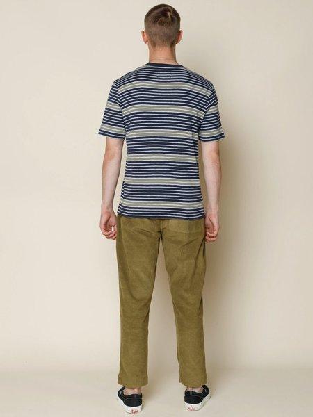 Folk Clothing Folk Highlight Stripe T-Shirt - Navy/Peat