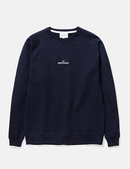 Norse Projects Ketel Norse Projects Wave Logo Sweatshirt - Dark Navy Blue