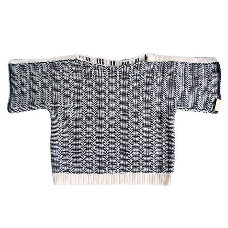 Kids Cataleya Lattice Cashmere Sweater - Black