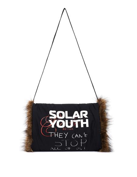 Raf Simons Solar Youth Faux Fur Muff