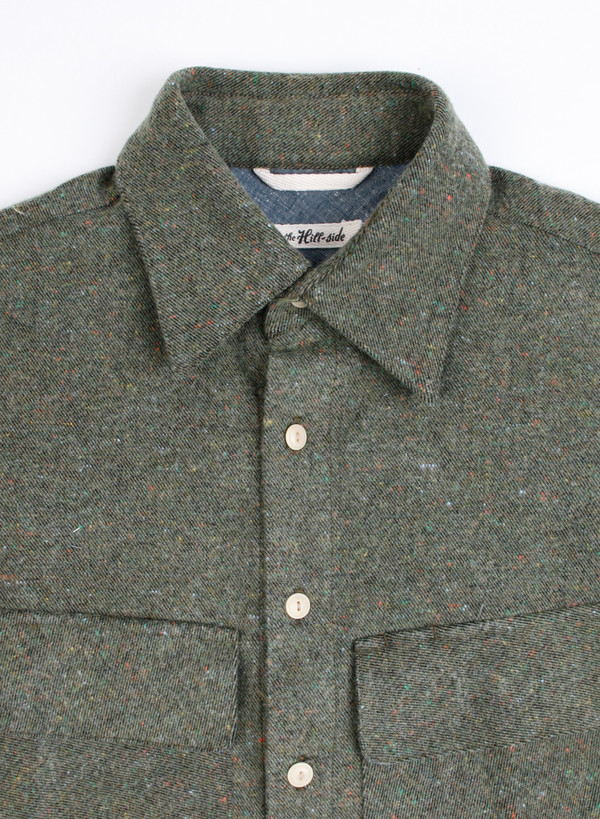 "Men's The Hill-Side Coupe Shirt Wool Blend ""Galaxy"" Tweed"