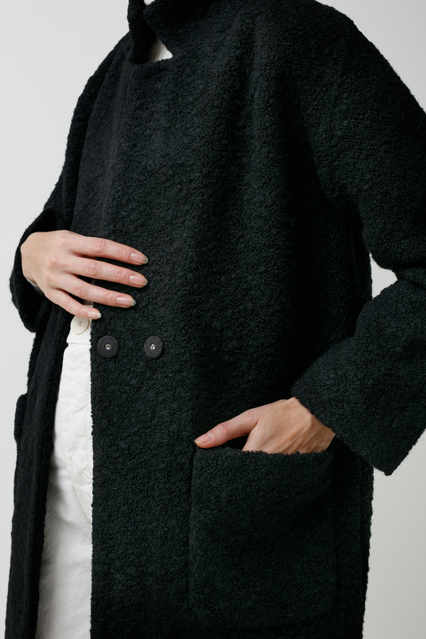 Ganni Fenn Coat - black