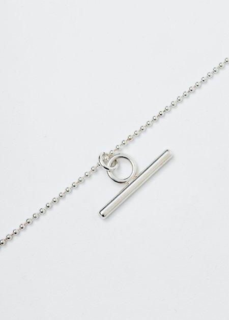 Martine Ali Silver Teddi Toggle Chain Necklace - Silver