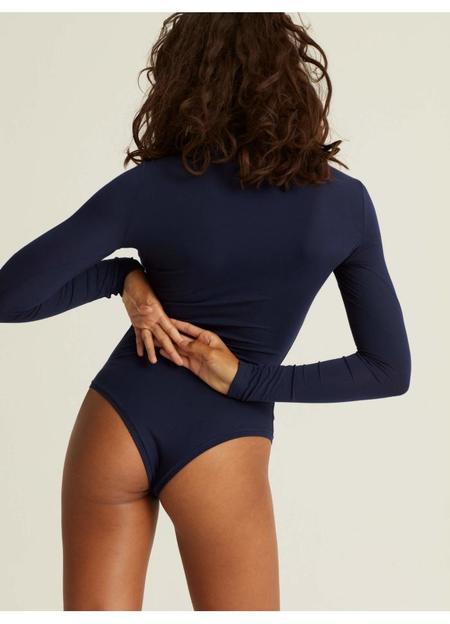 Woron Sexy Slim Sleek Bodysuit - Navy