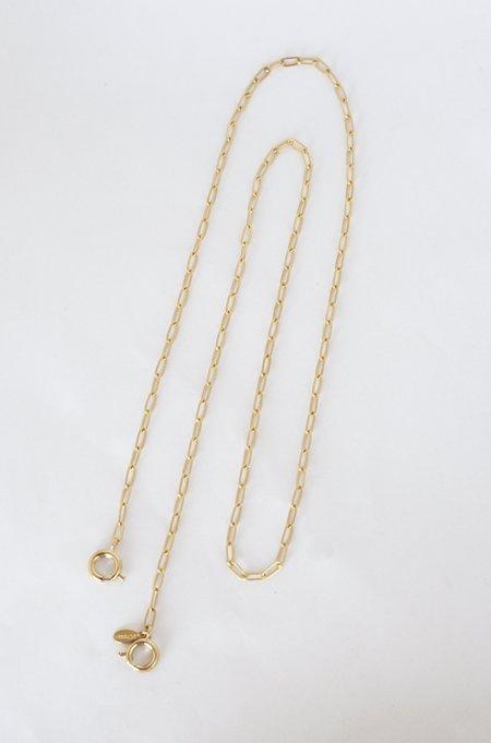 CUCHARA Helmut Mask Chain - 14k Gold