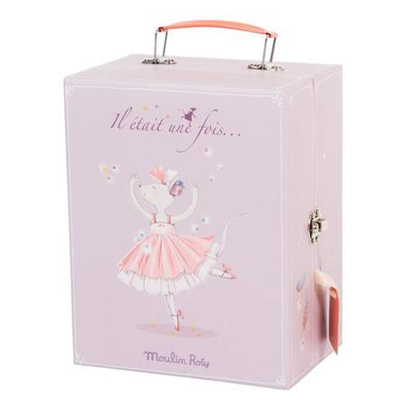 Kids Moulin Roty Il Etait Une Fois Ballerina Suitcase With Mouse And Tutus