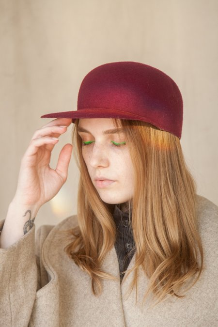 House of the Very Islands USA Wool Hat - Bordeaux