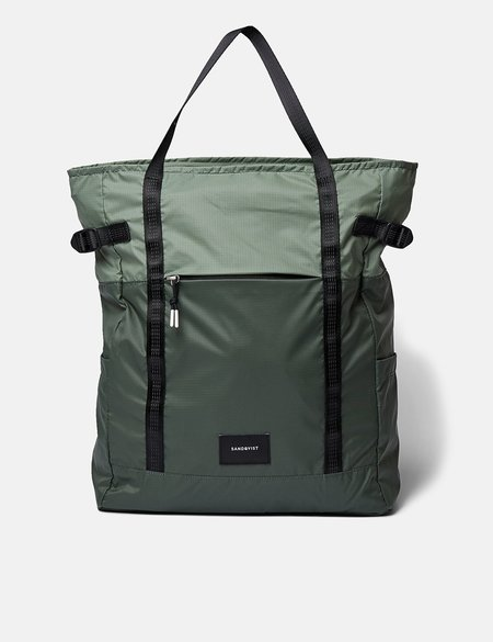 Sandqvist Roger Lightweight Backpack - Dusty Green/Night Green