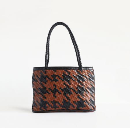 BIEN MAL Ella Houndstooth Handbag - Check
