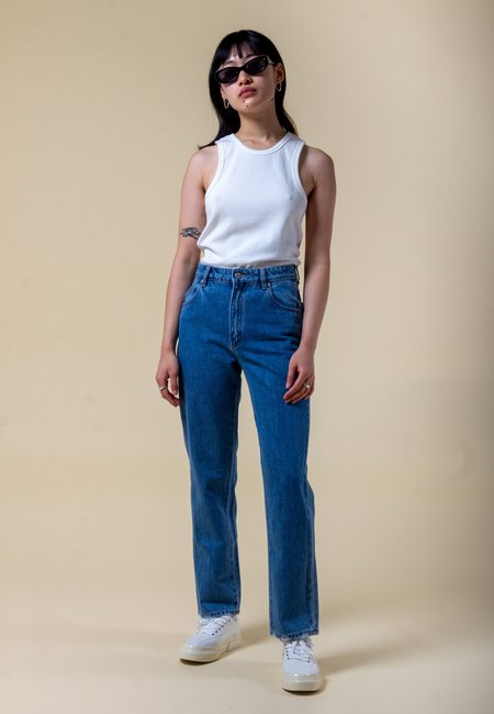 Rollas Original Straight Organic Jeans - Maya Blue