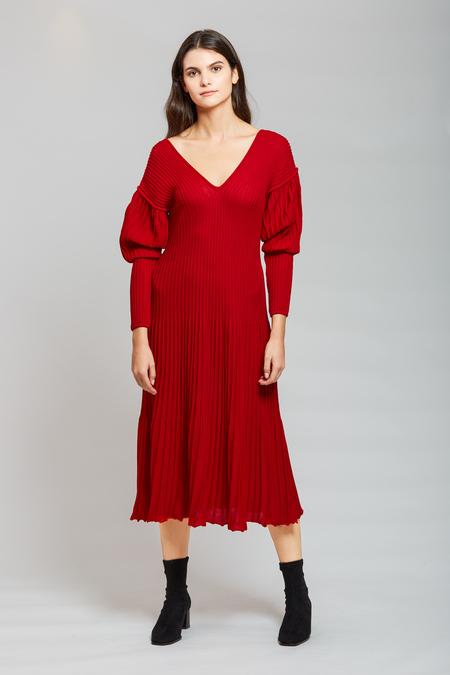 Long Sleeve Dress - Red