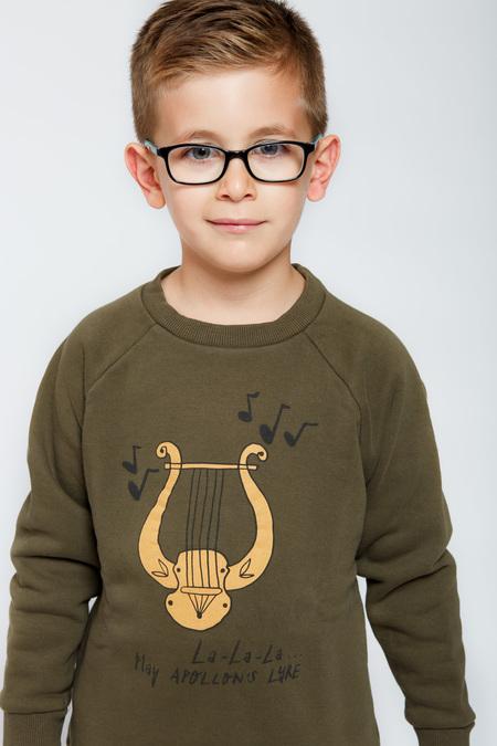 Kids ARTEMIS & APOLLON Lyre Sweatshirt Sweatshirt - OliveGreen