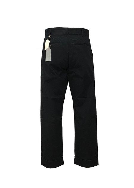 FUJITO Wide Slacks pants - Navy Blue