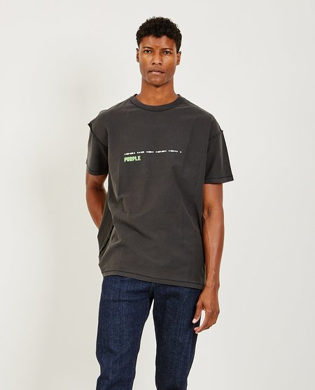 Purple Brand Relaxed Fit Tee - Grid Black